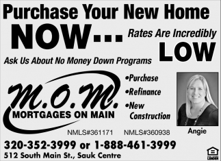 Purchase Your New Home Now!