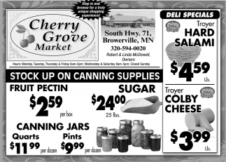 Stock up on Canning Supplies