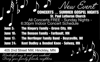 All Concerts Free - Sunday Nights