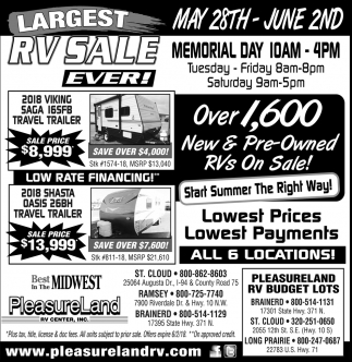 Largest RV Sale Ever!
