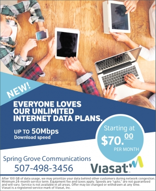 Everyone Loces Our Unlimited Internet Data Plans