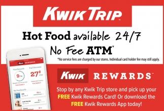 Hot Food Available 24/7, Kwik Trip, Minneapolis, MN