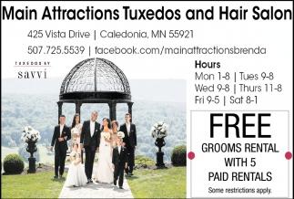 Main Attractions Tuxedo and Hair Salon