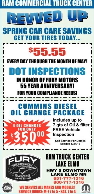 Spring Car Care Savings