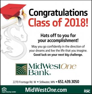 Congratulations Class of 2018