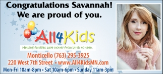 Congratulations Savannah!
