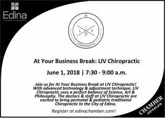 At Your Business Break: LIV Chiropractic