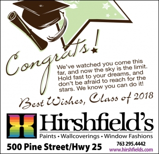 Congrats & Best Wishes, Class of 2018!