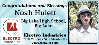 Congratulations and Blessings Noah Hulett