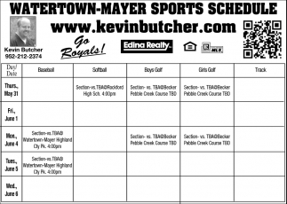 Watertown-Meyer Sports Schedule