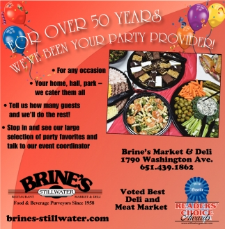 For OIver 50 Years We've Been Your Party Provider
