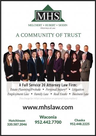 A Community of Trust