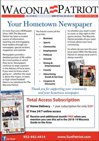 Your Hometown Newspaper