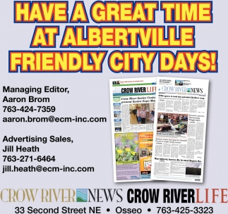 Have a Great Time at Albertville Friendly City Days!