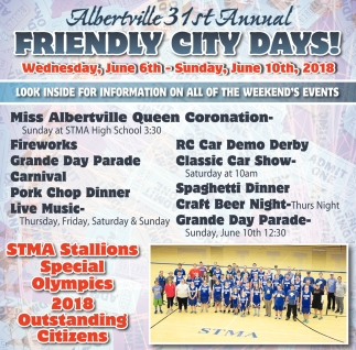 Albertville 31st Annual Friendly City Days!, Albertville Friendly City Days