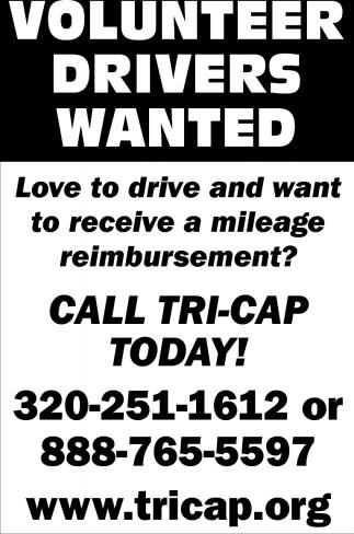 Volunteer Drivers Wanted