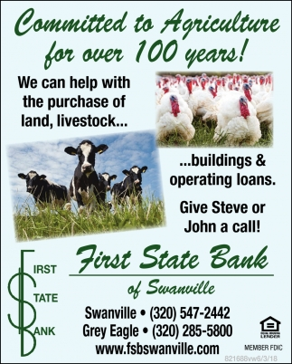 Commited to Agriculture for Over 100 Years!