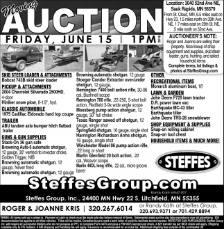 Auction Friday, June 15