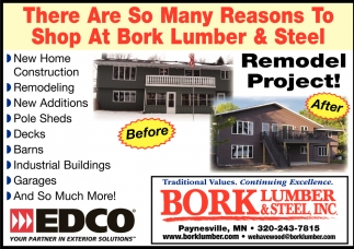 There are so Many Reasons to Shop at Bork Lumber & Steel!