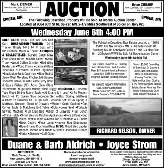Auction Wednesday June 6th