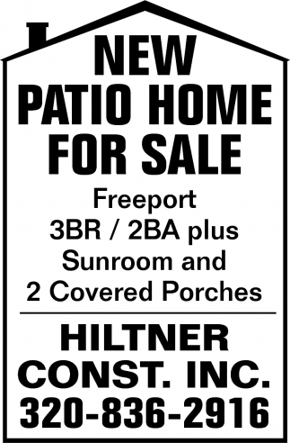 New Patio Home for Sale