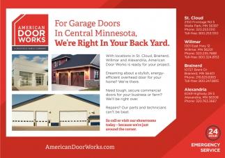For Garage Doors in Central Minnesota