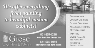 We Offer Everything from Painting to Beautiful Custom Cabinets!