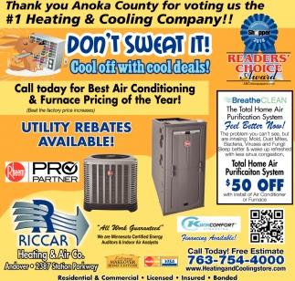 #1 Heating & Cooling Company!