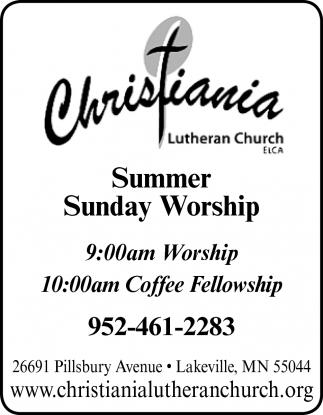Summer Sunday Worship