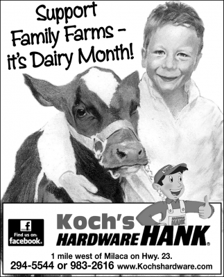 Support Family Farms. It's Dairy Month!