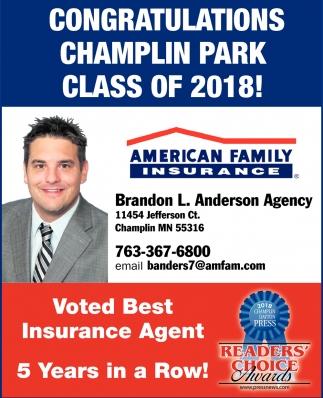 Congratulations Champlin Park Class of 2018!