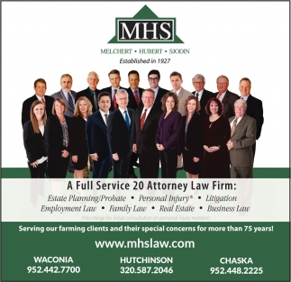 A Full Service 20 Attorney Law Firm