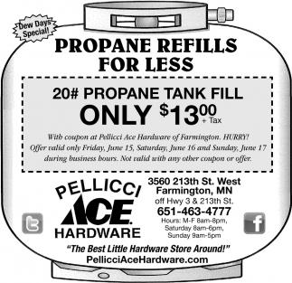 Propane Refills for Less