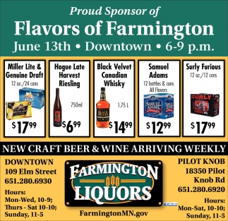 Proud Sponsor of Flavors of Farmington