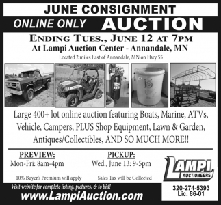 June Consignment Online Only Auction