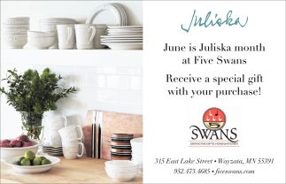 June is Juliska Month at Five Swans
