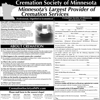 Minnesota's Largest Provider of Cremation Services