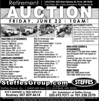 Auction Friday, June 22