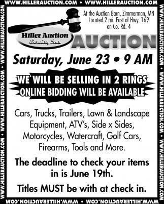 Auction Satudary, June 23