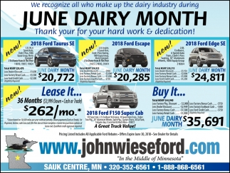 We Recognize All who Make up the Dairy industry During June Dairy Month