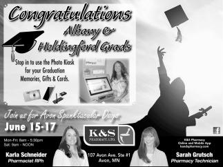 Congratulations Albany & Holdingford Grads