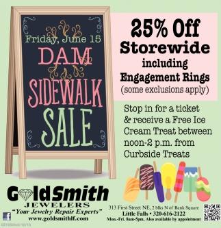 Dam Sidewalk Sale!