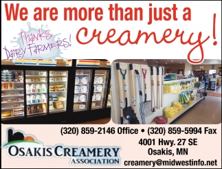 We are More than Just a Creamery!