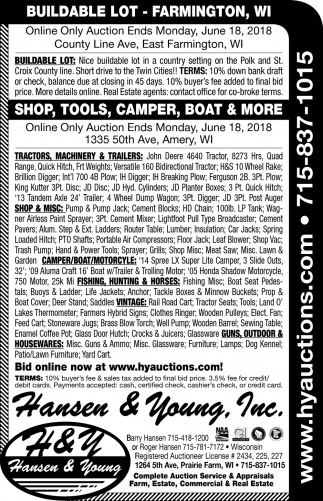 Shop, Tools, Camper, Boat & More!