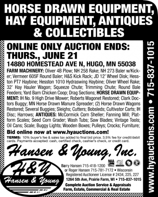 2018 May Farm Consignment