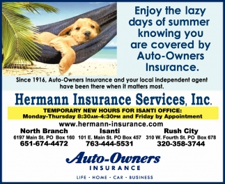 Enjoy the Lazy Days of Summer Knowing You are Covered by Auto-Owners Insurance