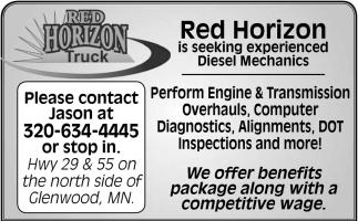 Red Horizon is Seeking Experienced Diesel Mechanics