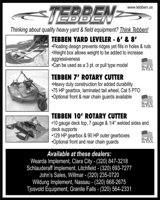 Thinking About Quality Heavy Yard & Field Equipment?