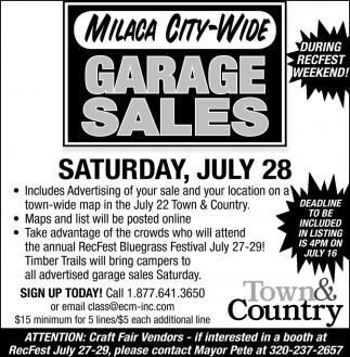 Garage Sales City Of Milaca Garage Sales