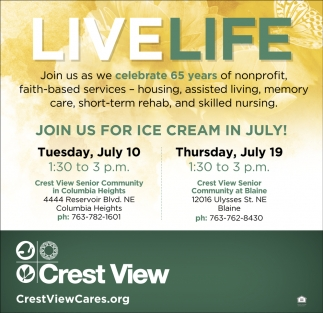 Join us for Ice Cream in July!